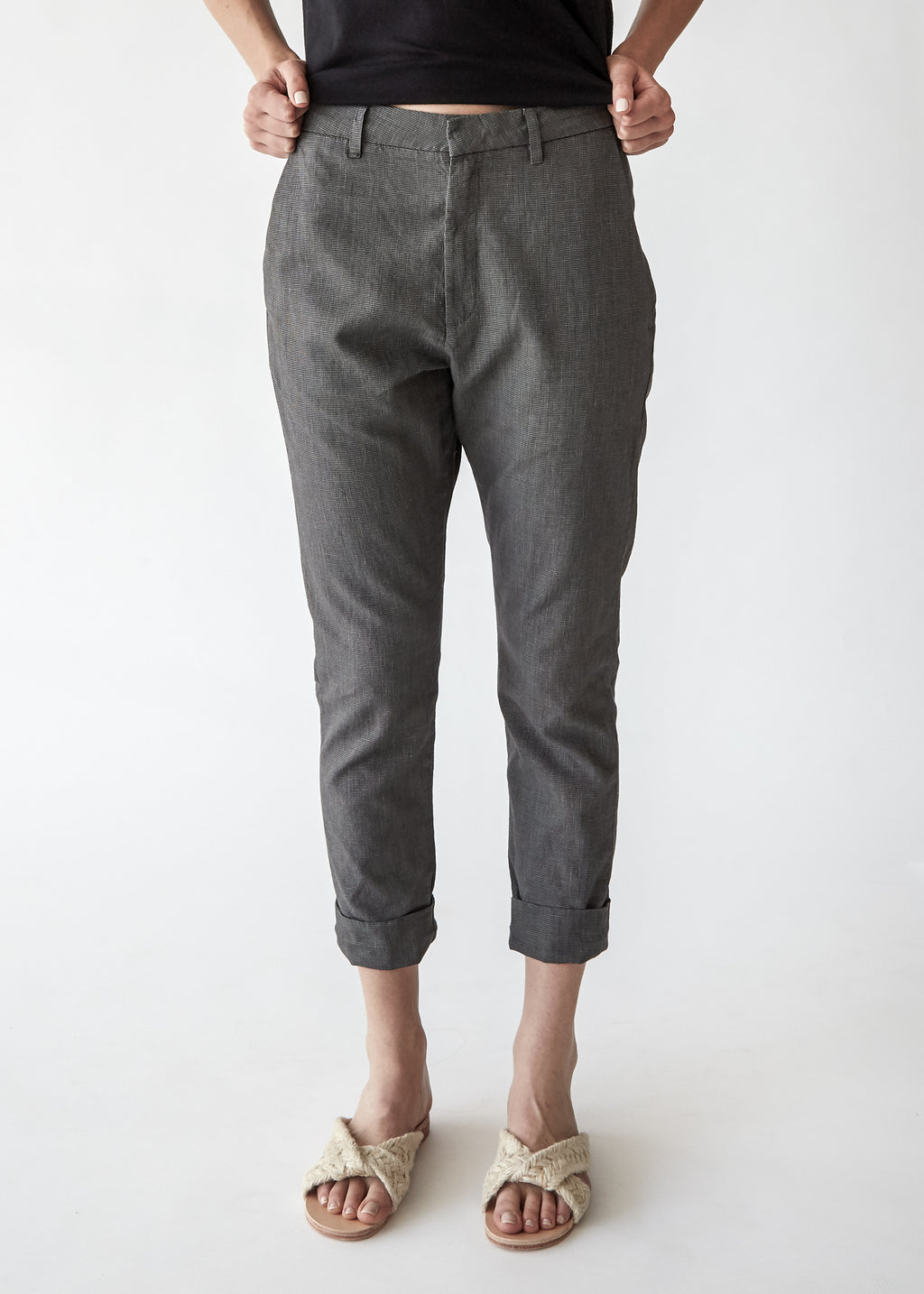 News Trouser in Grey Dogtooth