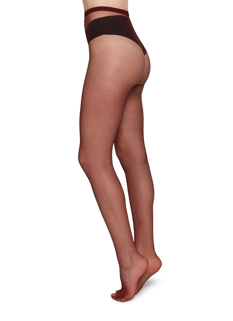 Swedish Stockings Liv Net Tights Red/Net