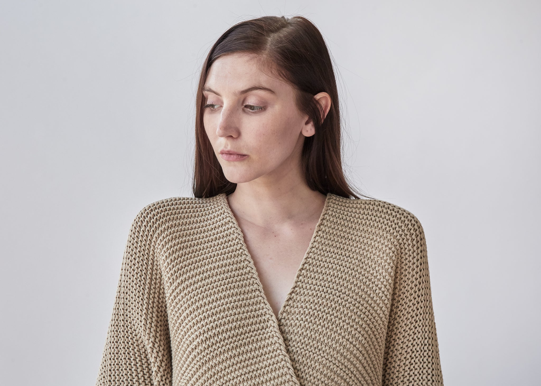 Links Wide Cardigan in Antique - SOLD OUT