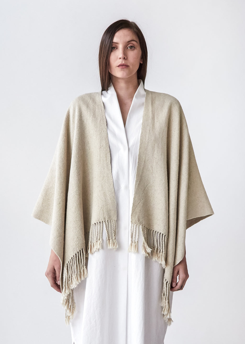 Handwoven Summer Serape in Natural - SOLD OUT