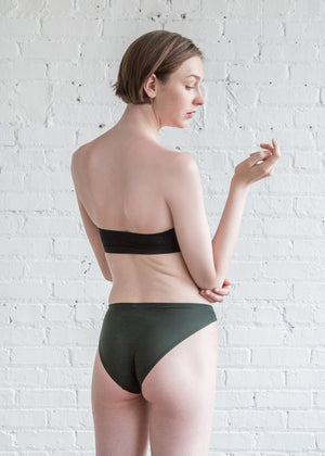 Land of Women Classic Super Soft Bikini Forest Green
