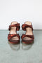 Maryam Nassir Zadeh Carine Wedge in Crimson Metallic