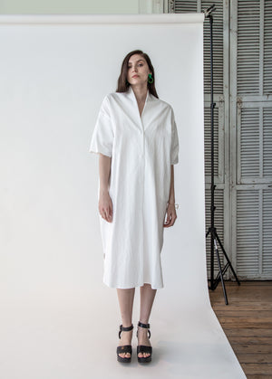 Shawl Shirt Dress in Shoji