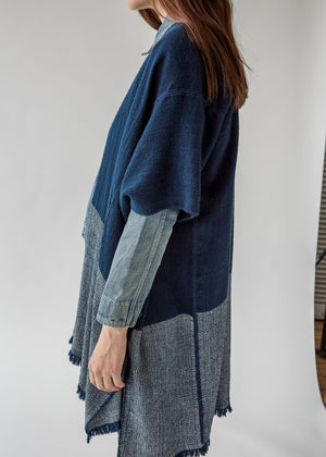 Annelise Cocoon Wrap in Navy/Ivory - SOLD OUT