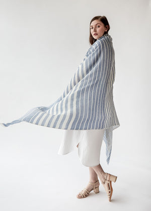 Catskill Scarf in Blue Stripe - SOLD OUT