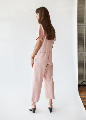 Freya Coverall in Blush - SOLD OUT