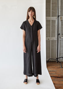 Miriam V Neck Jumpsuit in Black