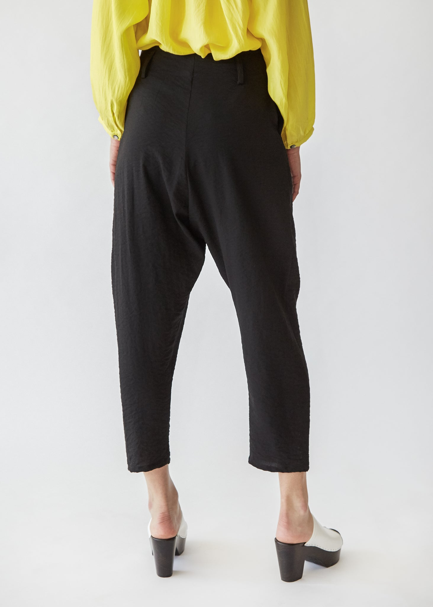 Sorrento Trouser in Black Crinkle