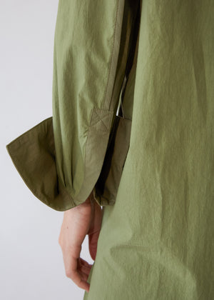 Oversize Tunic with Binding in Bottle Green/Khaki