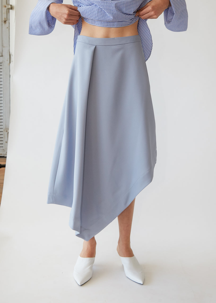 A-Line Asymmetric Skirt in Sky