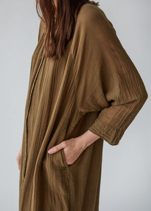 Joni Poet Dress in Tobacco - SOLD OUT
