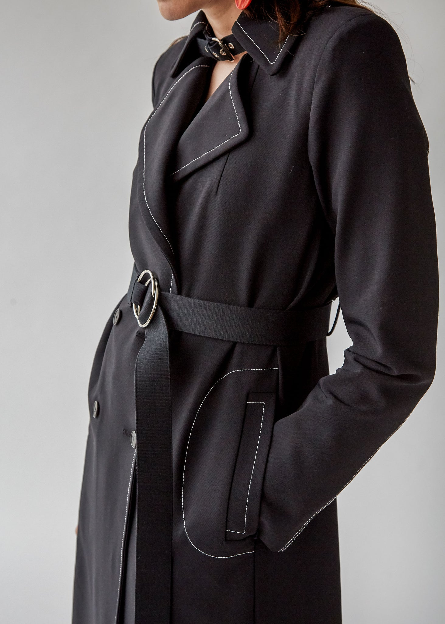 Roe Trench in Black