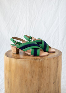 Blackwell Sandal in Green Leather