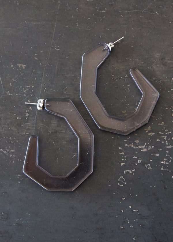 Baby Factor Earring in Smokey Grey