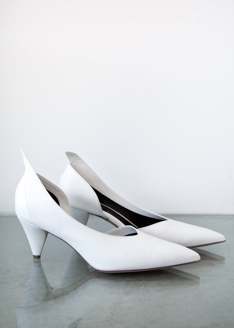 Rachel Comey Fount Heel in White Leather
