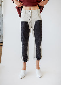 Handy Pant in White/Black - SOLD OUT