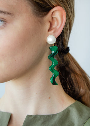 Hurley Earring in Malachite - SOLD OUT