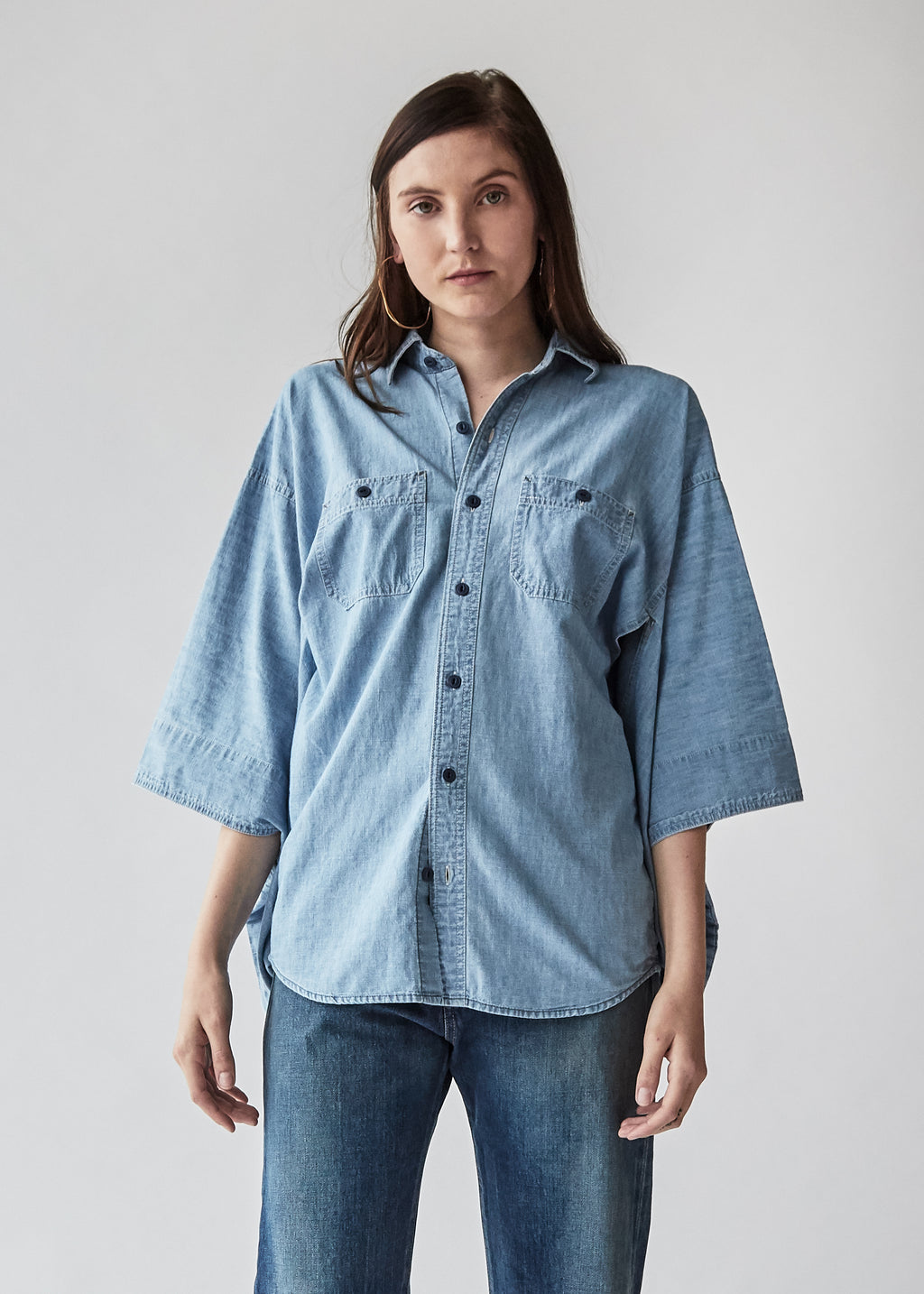 Kimono Shirt in Faded Indigo - SOLD OUT