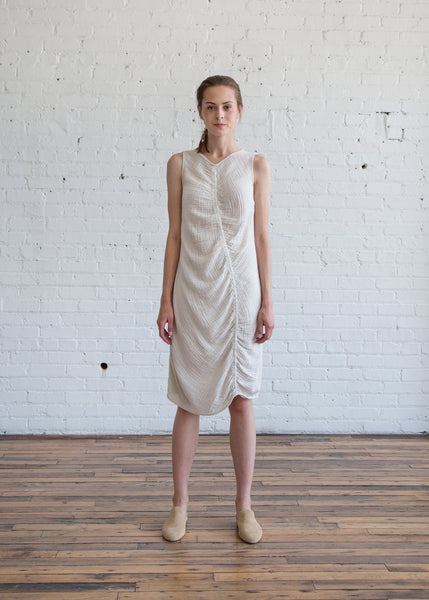 Raquel Allegra Column Dress Dirty White