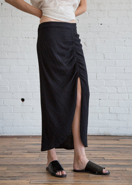 Raquel Allegra Slit Skirt Black