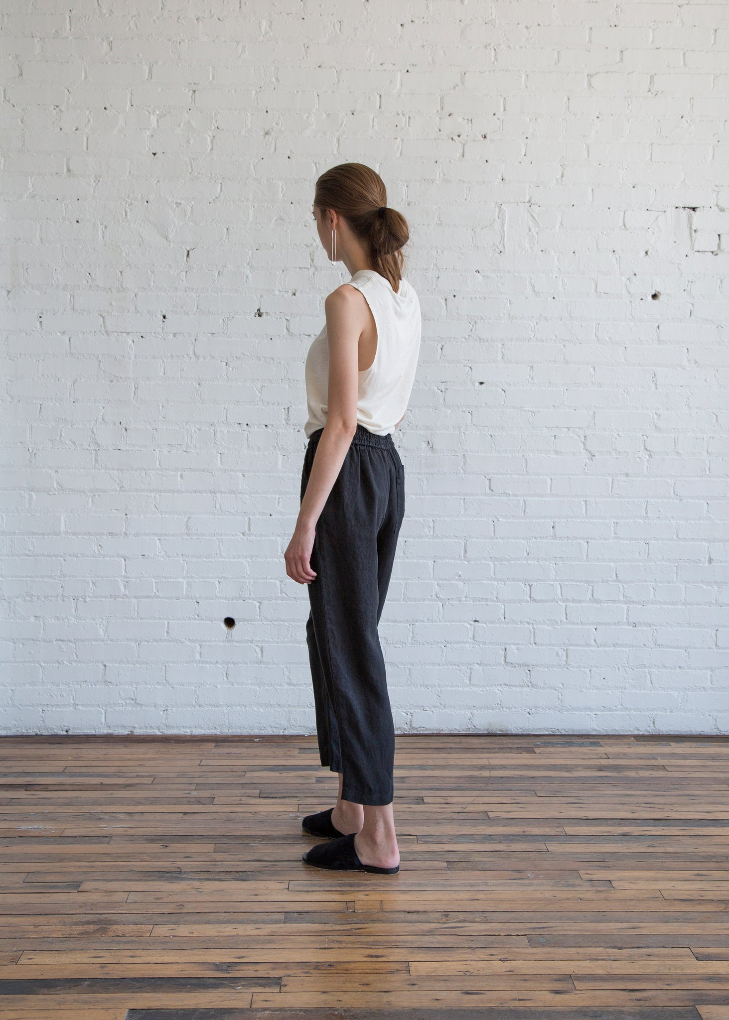 Raquel Allegra Trapunto Pant Black - SOLD OUT