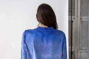 Silk Tie Dye Blouse in Blue Tides