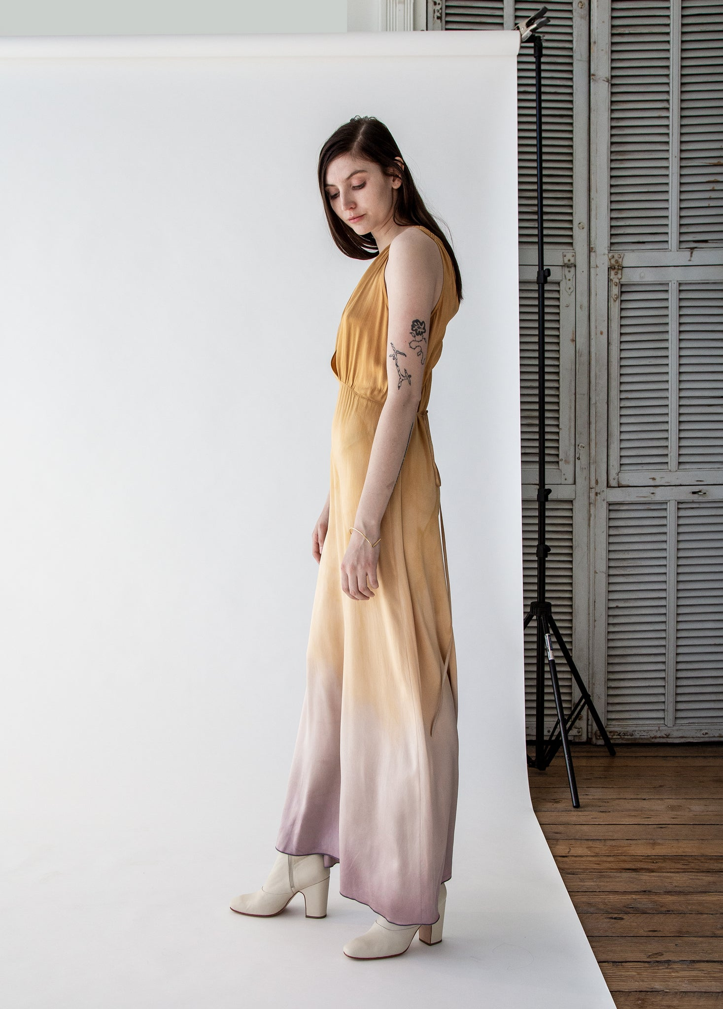 Kate Slip Dress in Golden Sun Tie Dye