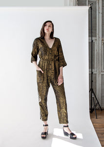 Utility Suit in Black/Gold