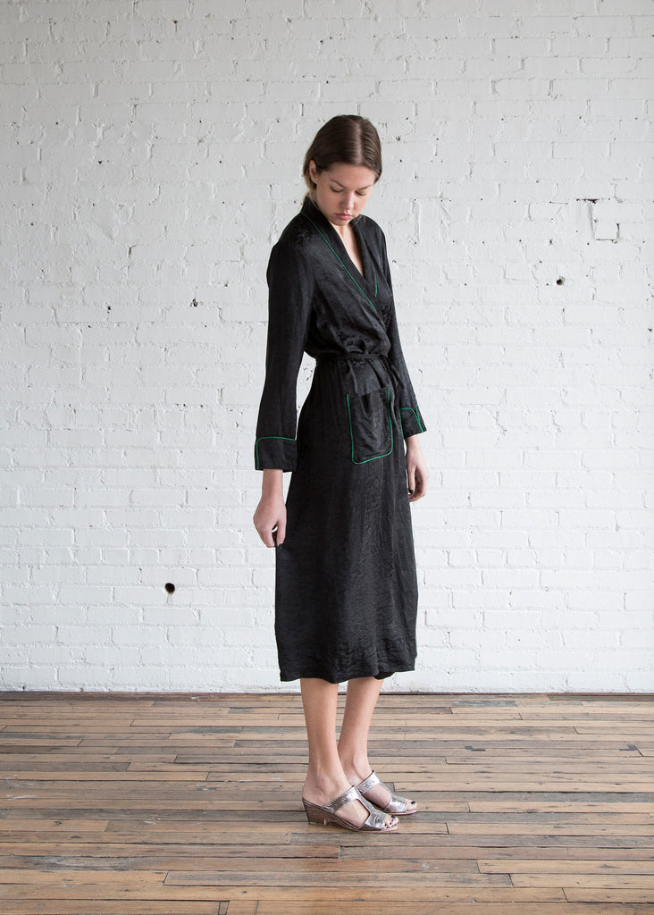 Raquel Allegra Robe Dress Black