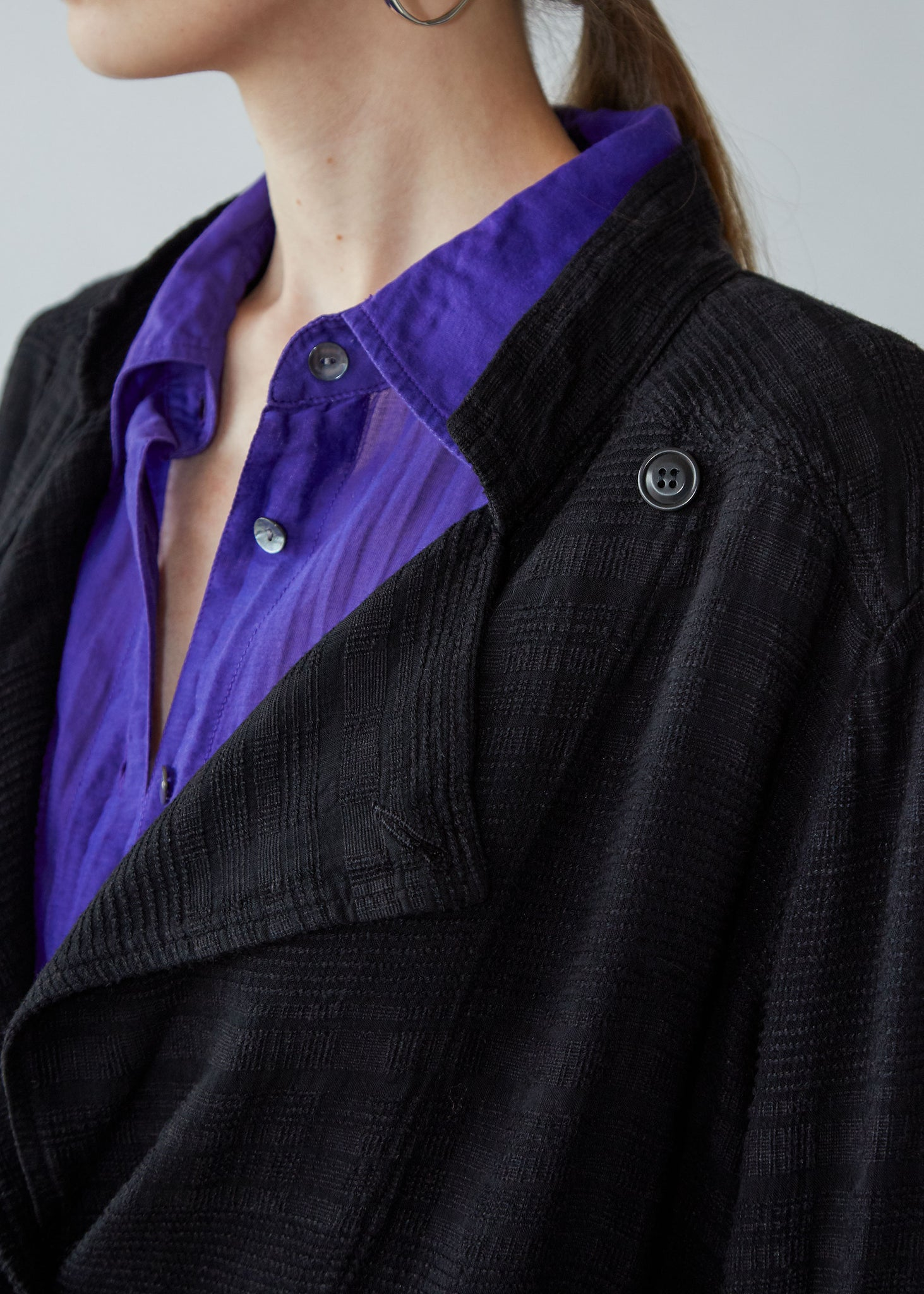 Buttoned Blazer in Black - SOLD OUT