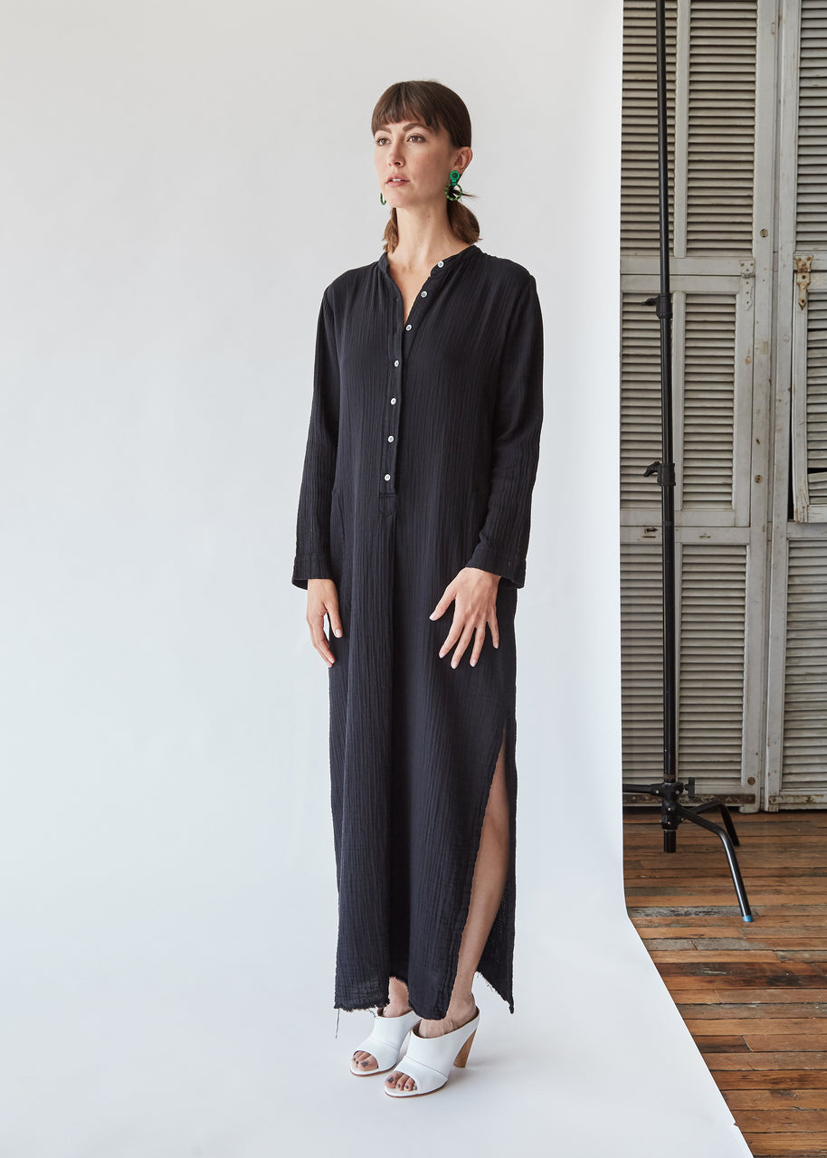 Henley Maxi in Black