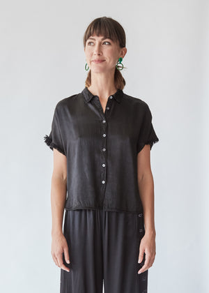 Little Button Up in Black - SOLD OUT