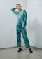 Jumpsuit in Teal Tie Dye