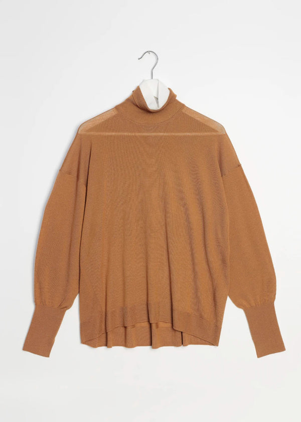 Double Turtleneck in Oak/White