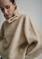 Mohair Turtleneck in Light Beige