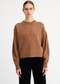 V-Neck Back Sweater in Camel