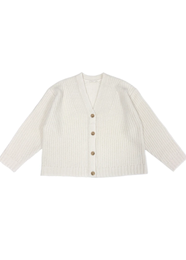 Cardigan Stitch Cardigan in White