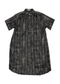 Snakeskin Shirtdress in Black
