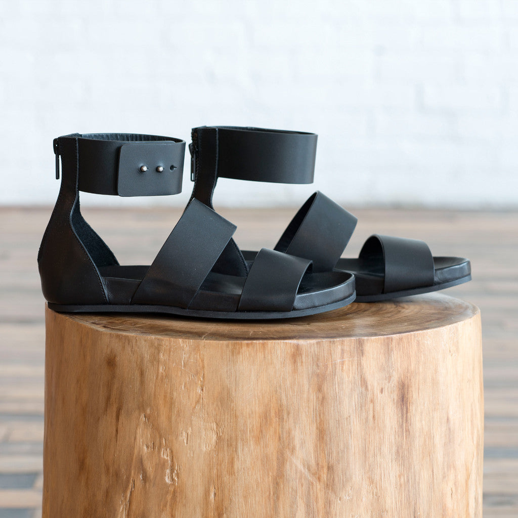Woman by Common Projects - Woman by Common Projects Double Strap Zip Sandal  -  Finefolk - 1