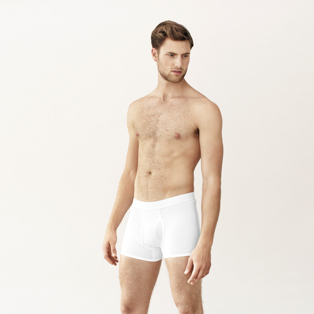 Handvaerk - Handvaerk Low Waist Trunk White - Finefolk - 1