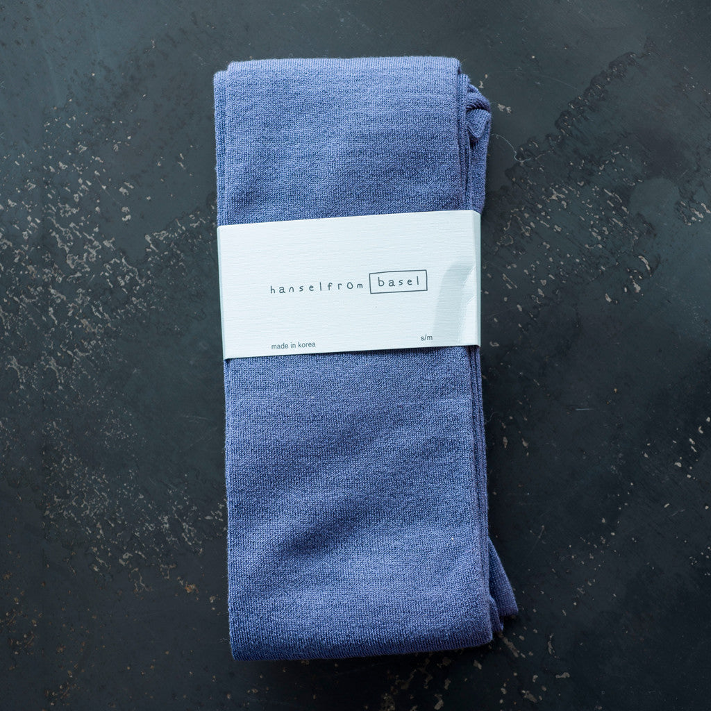 Hansel from Basel - Hansel from Basel Flat Knit Silk Tight Slate Blue  -  Finefolk