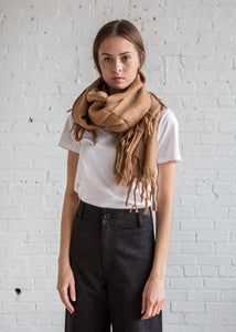 A Detacher Fringe Scarf Sand - SOLD OUT