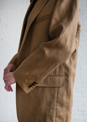 A Detacher Clem Coat Khaki Twill