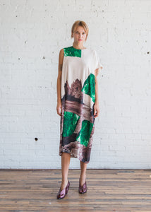 A Detacher Danuta Dress Rocks Print