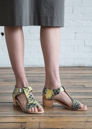 A Detacher Highsmith Sandal Snake Leather