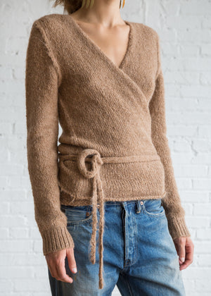 A Detacher Tiara Wrap Sweater Honey - SOLD OUT