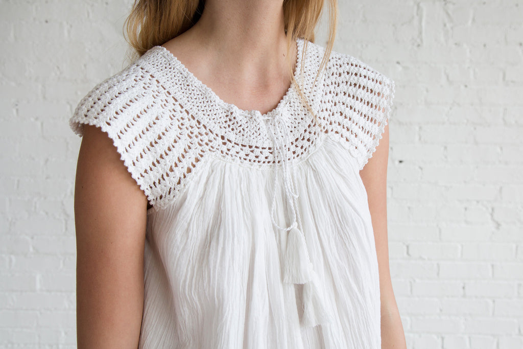Anaak Kota Crochet Blouse White - SOLD OUT
