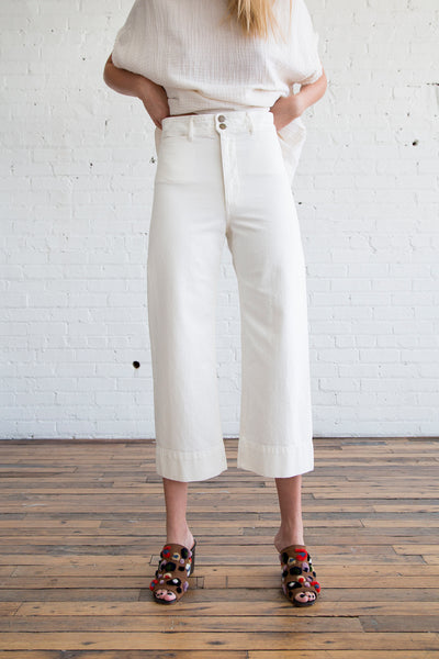 Apiece Apart Merida Pant White Denim