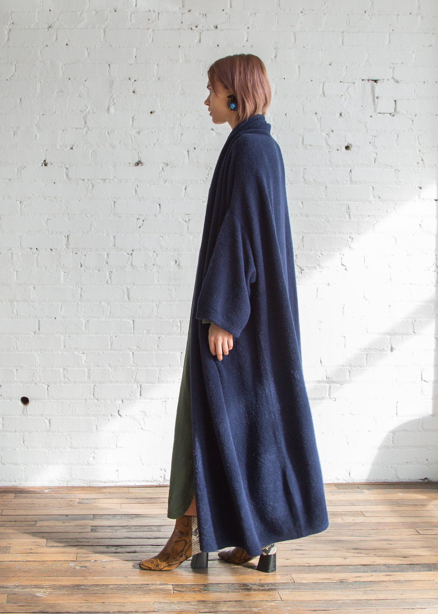 Atelier Delphine Haori Coat Extra Long Navy - SOLD OUT