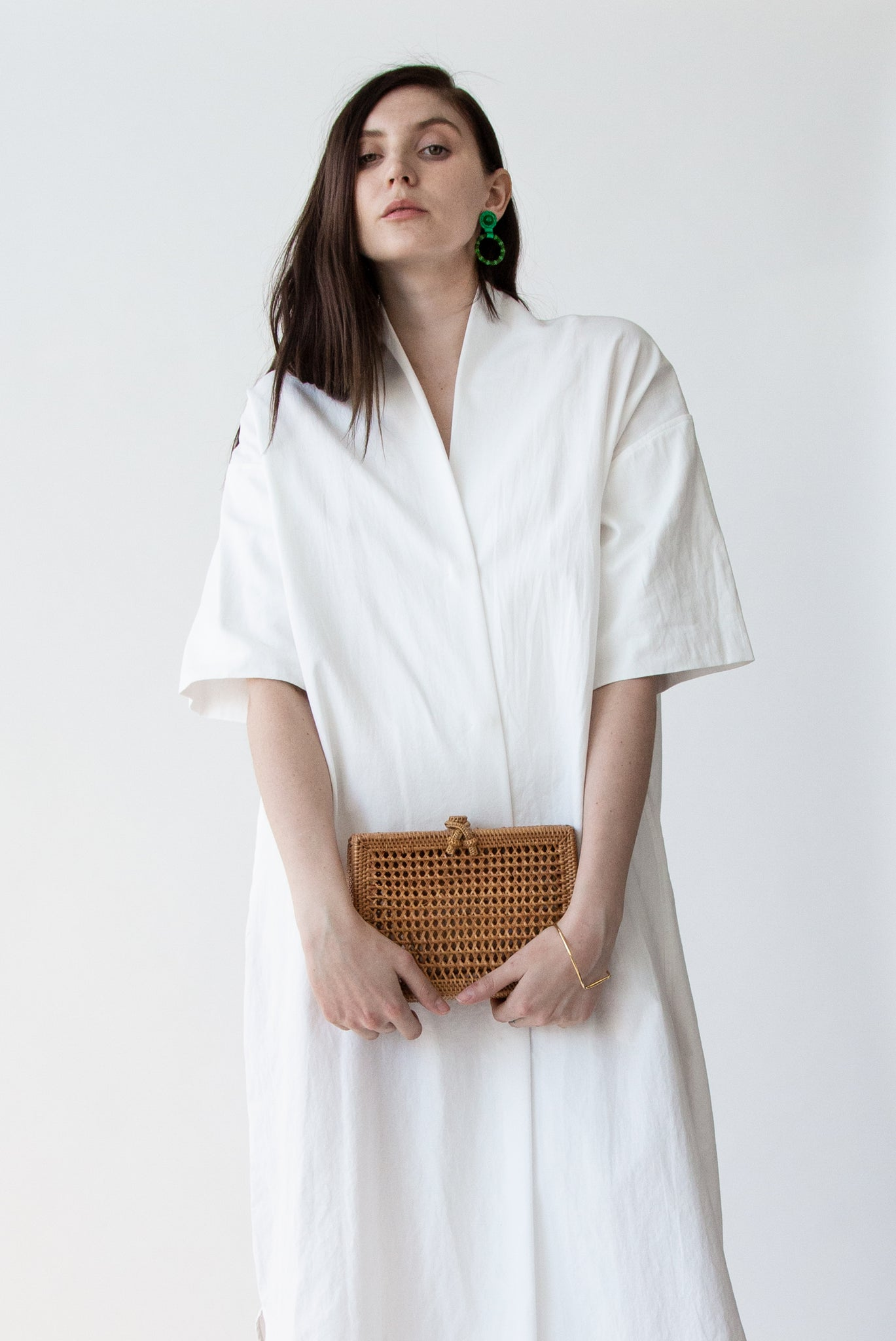 Flora Clutch in Rattan - SOLD OUT